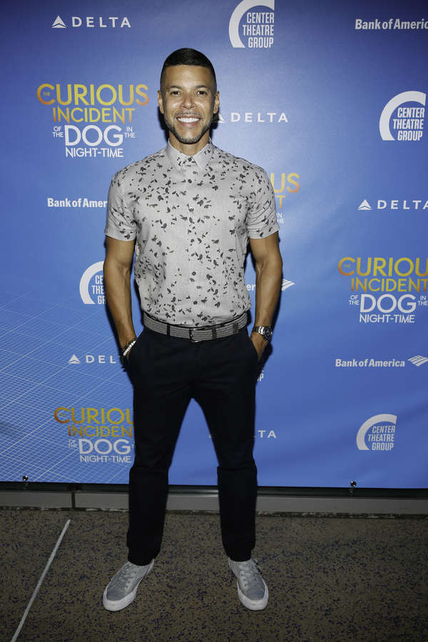 """Actor Wilson Cruz arrives for the opening night performance of """"The Curious Incident of the Dog in the Night-Time"""" at Center Theatre Group/Ahmanson Theatre on Thursday, August 3, 2017, in Los Angeles, California. (Photo by Ryan Miller/Capture Imaging)"""