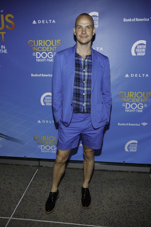 """Actor Peter Paige arrives for the opening night performance of """"The Curious Incident of the Dog in the Night-Time"""" at Center Theatre Group/Ahmanson Theatre on Thursday, August 3, 2017, in Los Angeles, California. (Photo by Ryan Miller/Capture Imaging)"""