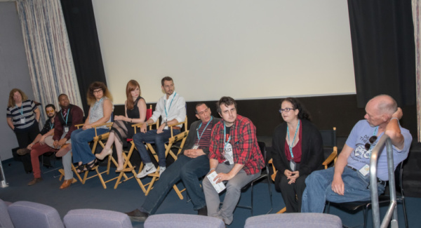 ... then sat down for a panel discussion with the audience, hosted by Jay Michaels. ( Photo