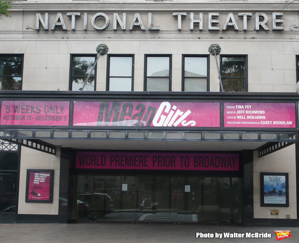 Theatre Marquee for Tina Fey's new musical adaptation of 'Mean Girls' on August 6, 2017 at the National Theatre in Washington, D.C.