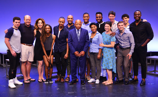 The cast of FREEDOM RIDERS with Congressman John Lewis