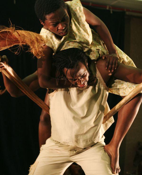Mdu Kweyama and Chuma Sopotela in KAROO MOOSE - NO FATHERS. Photo