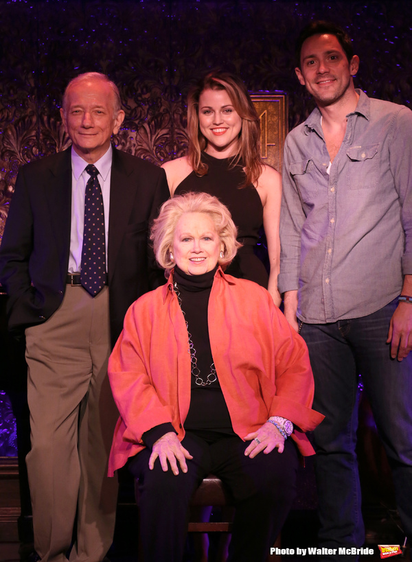 Jonathan Tunick, Rebecca Faulkenberry, Barbara Cook & Steve Kazee   attending a Press Preview at the 54 Below in New York City on 4/23/2013...