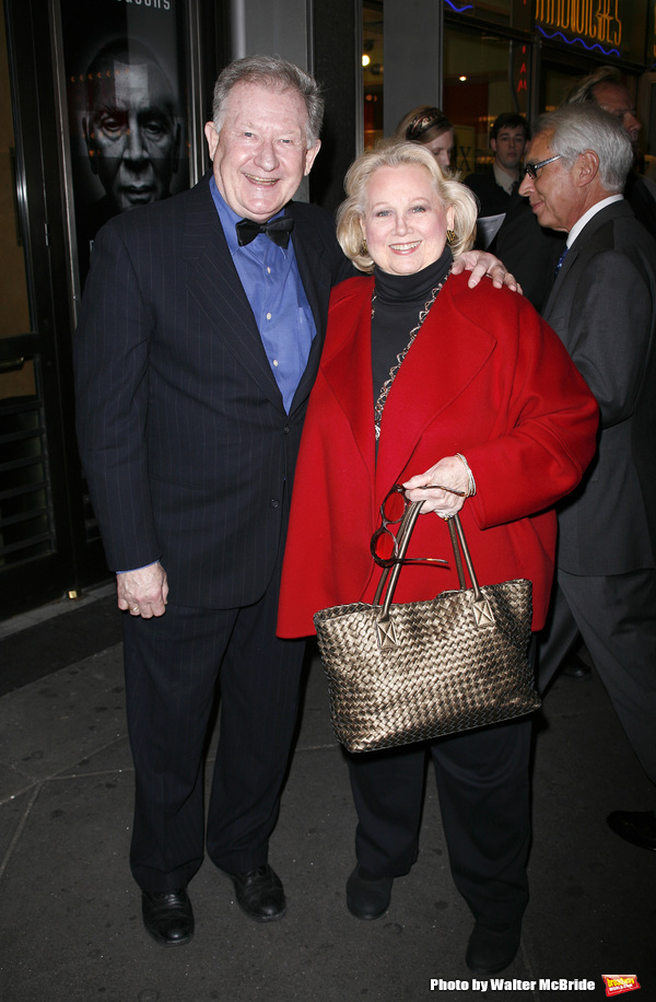 Harvey Evans & Barbara Cook arriving for the Roundabout Theatre Company's Opening Night Production  of  A MAN FOR ALL SEASONS at the American Airlines Theatre in New York City. October 7, 2008