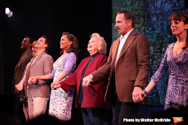 Euan Morton, Vanessa Williams, Barbara Cook, Tom Wopat & Leslie Kritzer taking a bow during the Broadway Opening Night Curtain Call for SONDHEIM on SONDHEIM at Studio 54 in New York City. April 22, 2010