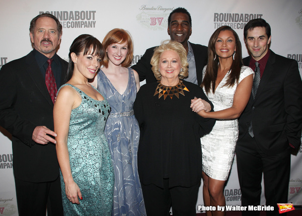 Tom Wopat, Leslie Kritzer, Erin MacKey, Barbara Cook, Norm Lewis, Vanessa Williams, Matthew Scott attending the Broadway Opening Night After Party for SONDHEIM on SONDHEIM at Studio 54 in New York City. April 22, 2010