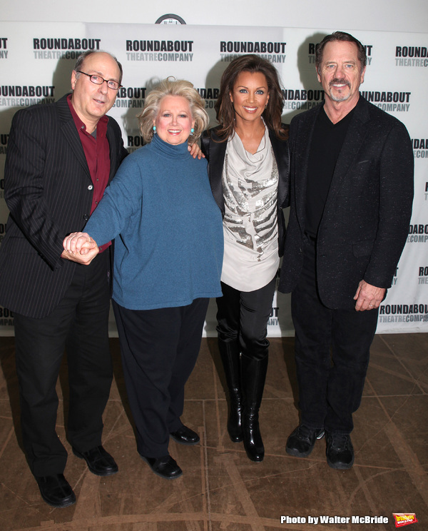 "James Lapine, Barbara Cook, Vanessa Williams, Tom Wopat attending the Meet & Greet the cast of the Roundabout Theatre Company's production of ""SONDHEIM 0n SONDHEIM"" at the their rehearsal studios in New York City. March 3, 2010"