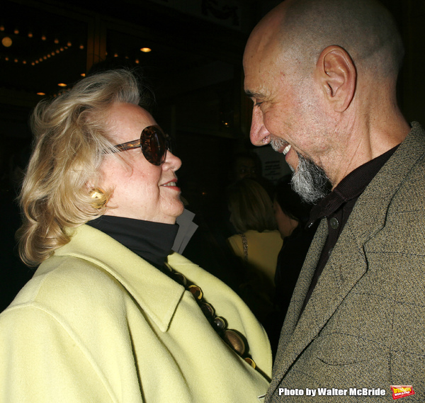 Barbara Cook & F. Murray Abraham arriving for the Opening Night Performance  of  CORAM BOY at the Imperial Theatre in New York City. May 2, 2007