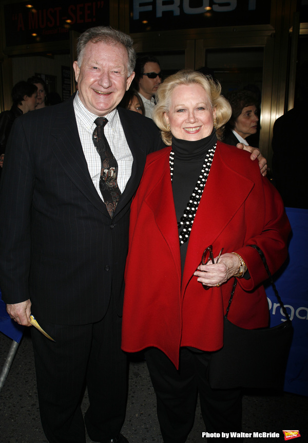 Harvey Evans & Barbara Cook arriving for the Opening Night performance of FROST NIXON at the Bernard B. Jacobs Theatre in New York City. April 22, 2007