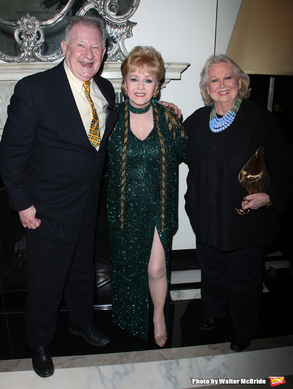 Debbie Reynolds & Harvey Evans & Barbara Cook attending the Opening Night of Debbie Reynolds at the Cafe Carlyle, Carlyle Hotel in New York City. June 3, 2009