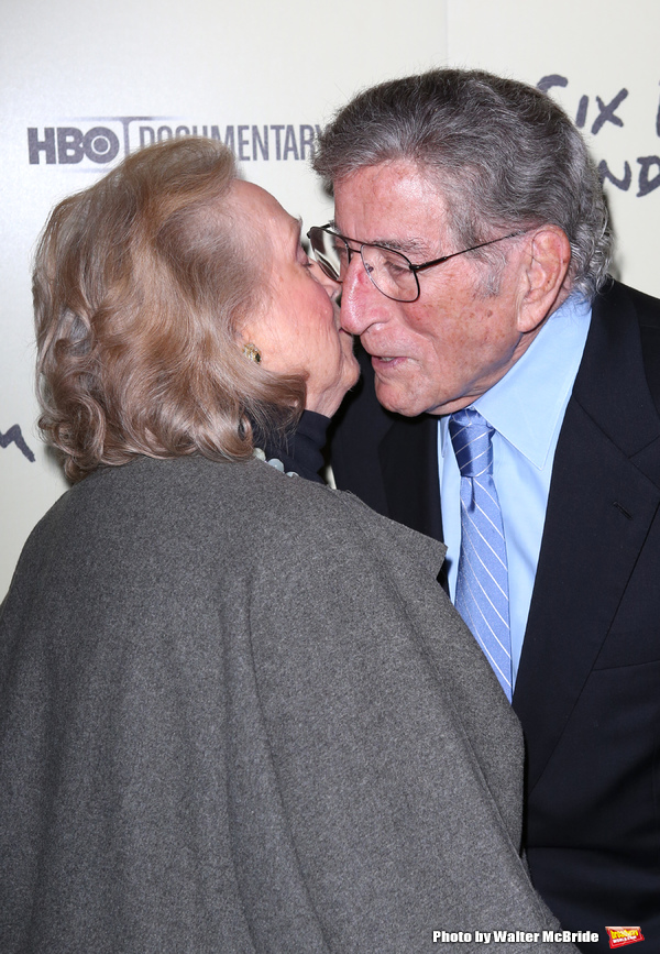 Barbara Cook & Tony Bennett  attending the Premiere Screening of HBO's 'Six By Sondhe Photo