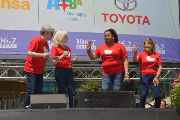 Nancy Opel, Elizabeth Ward Lane, Aisha de Haas and Andrea Bianchi