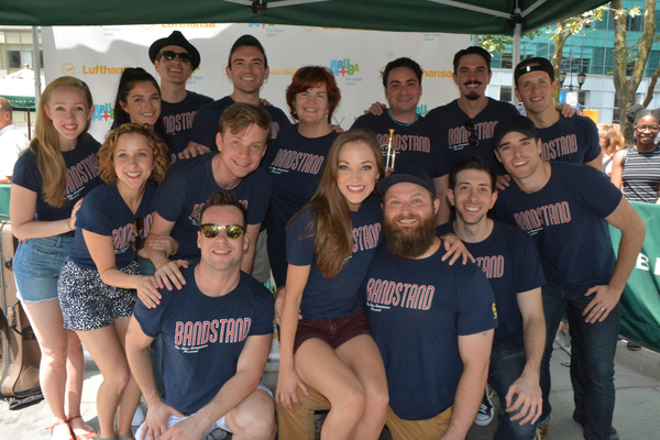 Laura Osnes, Corey Cott and the Cast of Bandstand that includes-Joe Carroll, Brandon  Photo