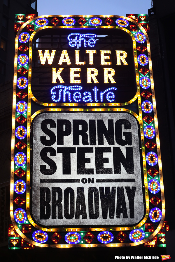 Up on the Marquee: SPRINGSTEEN ON BROADWAY