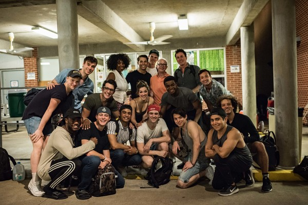 Jack Feldman with the cast of NEWSIES at The Muny