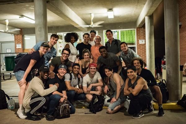 Jack Feldman with the cast of NEWSIES at The Muny Photo