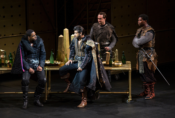(from left) Grantham Coleman as Hamlet, Ian Lassiter as Horatio, Lorenzo Landini as B Photo