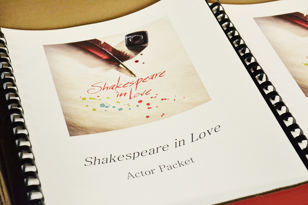 The first day of rehearsals for SHAKESPEARE IN LOVE at the Alliance Theatre
