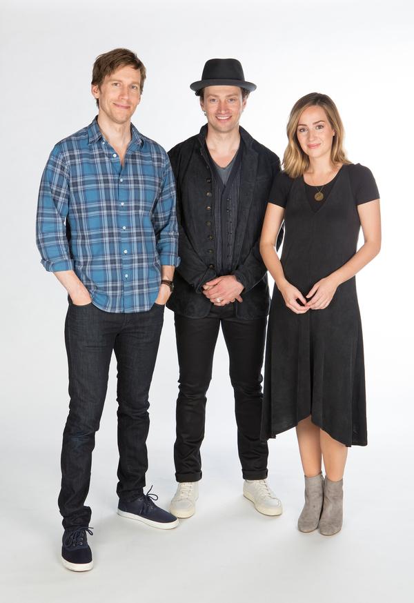 Andrew Samonsky, Bryce Pinkham, and Hannah Elless