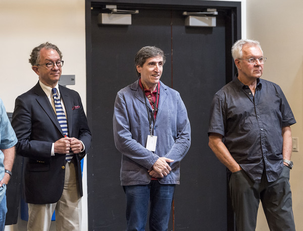 Costume designer William Ivey Long, playwright Paul Rudnick and  Walter Bobbie