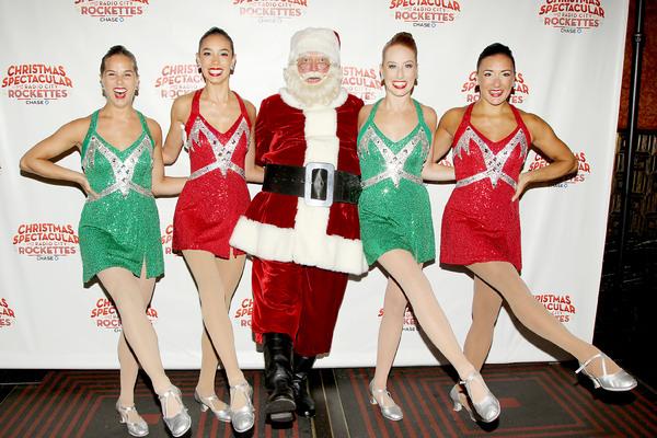 Santa Claus with The Radio City Rockettes