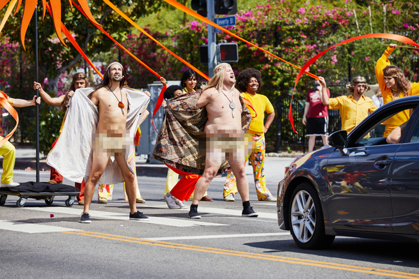 Photo Flash: Lin-Manuel Miranda & James Corden in Crosswalk the Musical HAIR