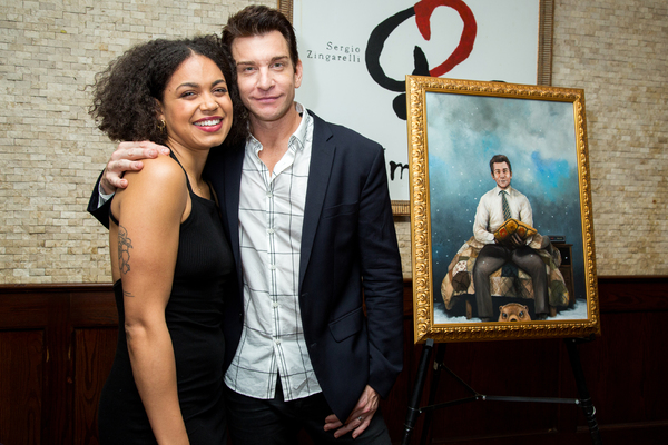 Photo Coverage: Andy Karl Receives GROUNDHOG DAY Portrait at Tony's Di Napoli!
