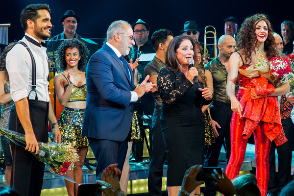 Photo Coverage: Gloria and Emilio Estefan Join Cast of ON YOUR FEET for Final Broadway Bows!