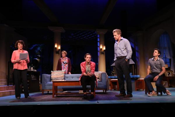 Patricia Richardson (Polly Wyeth), Deirdre Madigan (Silda Gauman), Liza J. Bennett (Brooke Wyeth), Kevin Kilner (Lyman Wyeth), Charles Socarides (Trip Wyeth)