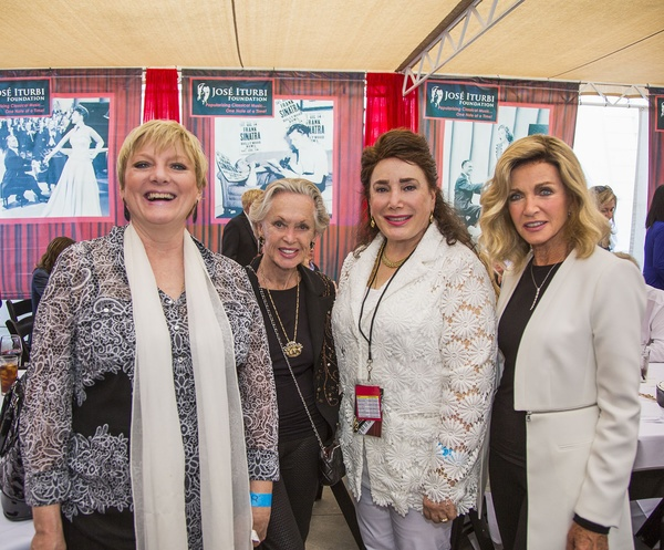TV Icon Alison Argnrim, Legendary Golden Globe winner Tippi Hedren, Jose' Iturbi President Donelle Dadigan and Emmy winner Donna Mills