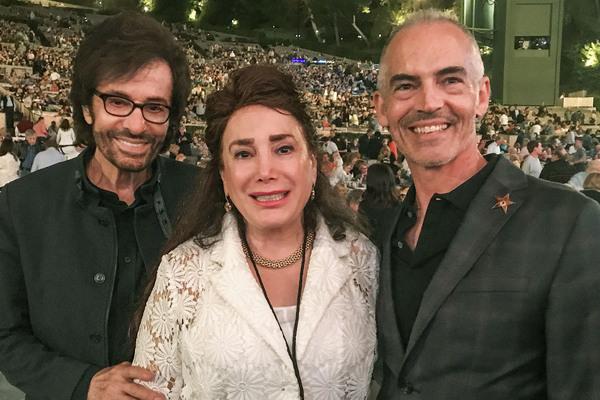 Academy Award/Golden Globe Winner George Chakiris, Jose' Iturbi Foundation President Donelle Dadigan and Councilman Mithc O'Farrell