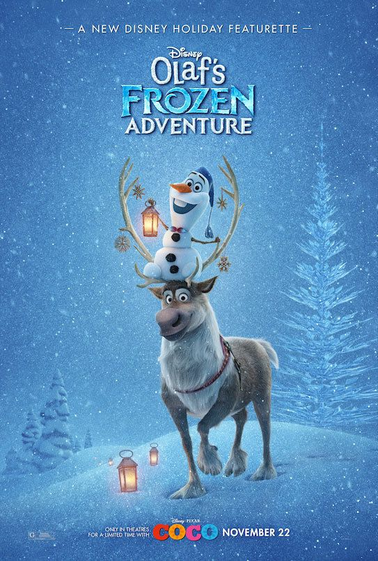 First Look - Poster Art Revealed for OLAF'S FROZEN ADVENTURE