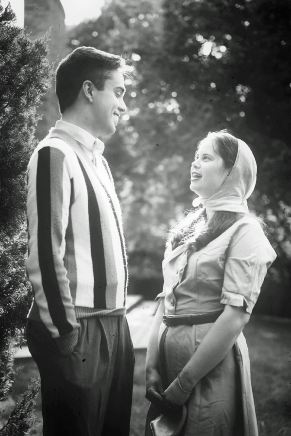 Charlotte Gilman as young Edie Beale, with Hunter Hawkins as Joseph Kennedy, Jr., in  Photo