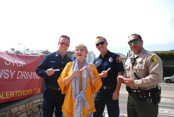 Alison Arngrim with Members of LA County Fire Dept, station 70 and LA County Sheriffs Dept.