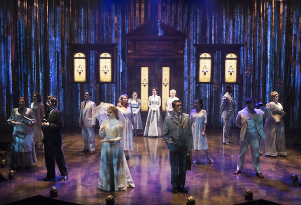 The full cast of A LITTLE NIGHT MUSIC at Signature Theatre