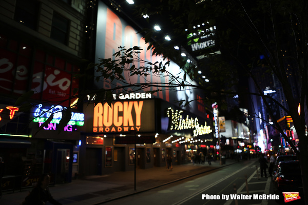 Theatre Marquee for 'Rocky Broadway' - on October 28, 2013 at The Winter Garden Theatre in New York City. The Sylvester Stallone film has inspired an innovative new stage production from director Alex Timbers , book writer Thomas Meehan and songwriting te