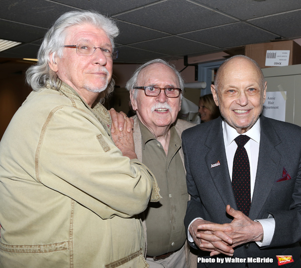 Martin Charnin, Thomas Meehan, Charles Strouse & the cast from Broadway's iconic musical ANNIE celebrate creator Charles Strouse's 85th Birthday at The Palace Theatre in New York City on June 06, 2013.
