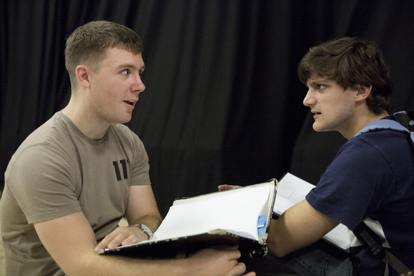 Photo Flash: In Rehearsal for EYES CLOSED, EARS COVERED at Bunker Theatre