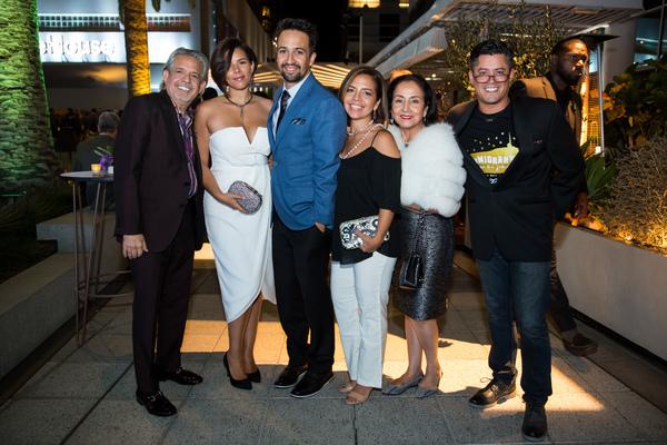 Luis Miranda, Vanessa Nadal-Miranda, Lin-Manuel Miranda, Luz Miranda-Crespo, Luz Town Photo