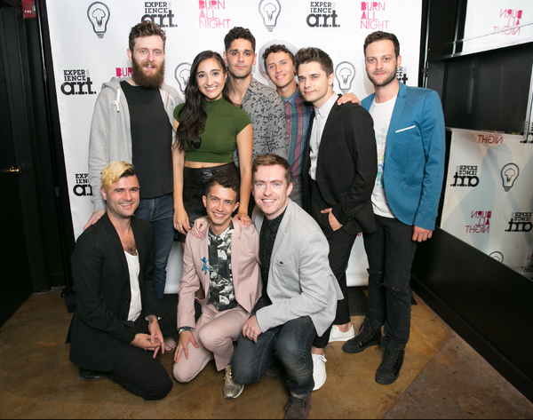 Kenneth Clark, Krystina Alabado, Perry Sherman, and Lincoln Clauss with Andy Mientus, Van Hughes, Cian McCarthy, Brett Moses, and Nicholas LaGrasta