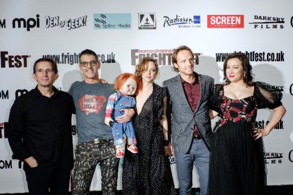 Tony Gardner, Don Mancini, Fiona Dourif, Adam Hurtig and Jennifer Tilly