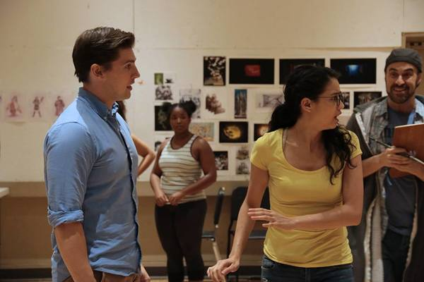Curt Hansen, Arielle Jacobs, and cast of BETWEEN THE LINES Photo