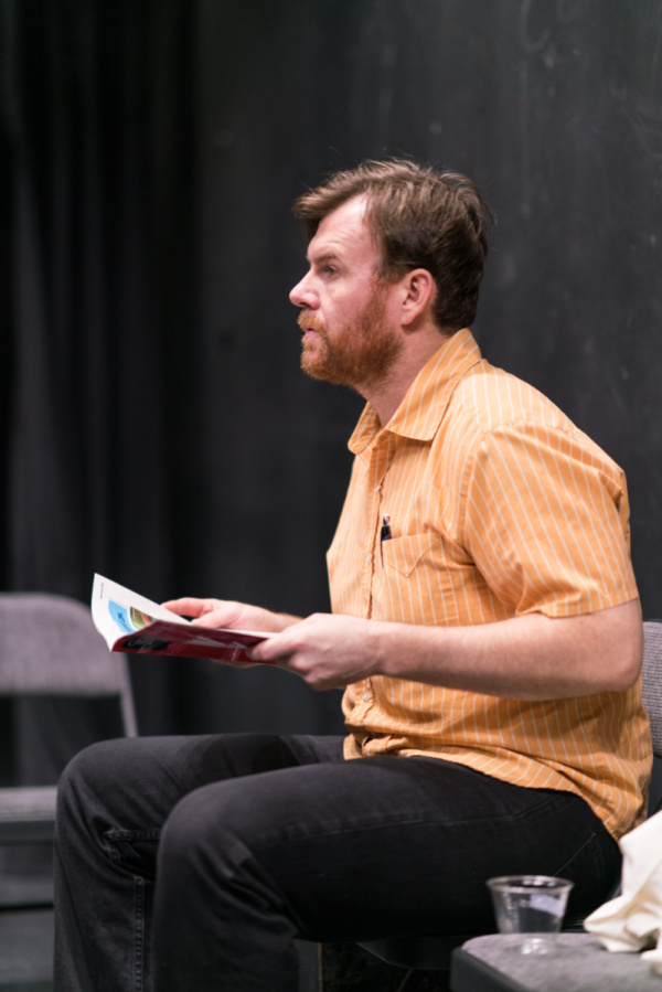 In the rehearsal room with Ten Bones Theatre Company's In a Little Room with actor Jeb Kreager   Photo credit Zachary Zirlin Photography