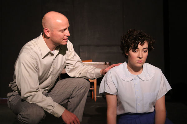 Don Kammann as Tom Wingfield and Anna Steuerman as Laura Wingfield