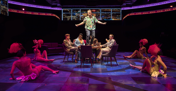 The cast of HONEYMOON IN VEGAS at The Marriott Theatre