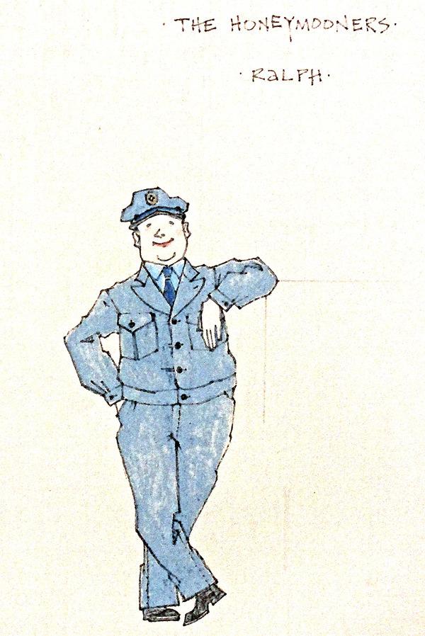 Ralph Kramden costume rendering by Jess Goldstein