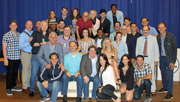 The company of THE HONEYMOONERS at Paper Mill Playhouse
