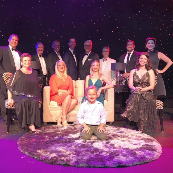 The Cast of Broadway By Request with Clark Calvi, great-grandson of former artistic producing director Paul Aiken, celebrating the return of the Gateway Playhouse.