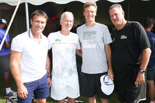 Pat Cash, John McEnroe, Peter Fleming, Fritz Buehning Photo