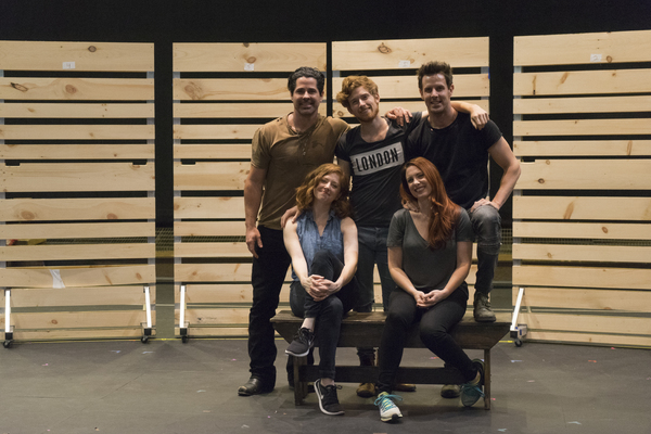 POTP Principal Cast: Seated, Kate Morgan Chadwick (Rebecca), Jayme Lake (Josie) JT Hodges (Jake) Daniel David Stewart (Hirsh) and Harley Jay (Sean). Photo Credit: Derrick Minyard/TPAC